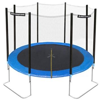 Ultrasport Gartentrampolin Jumper inkl. Sicherheitsnetz, Blau, 305 cm, 330700000120 - 1