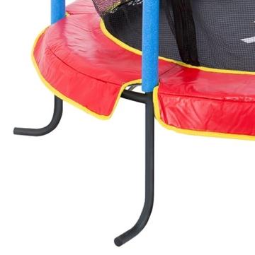 Ultrasport Kinder Indoortramplin Jumper 140 Inklusiv Sicherheitsnetz, Rot/Blau, 33070000065P - 3
