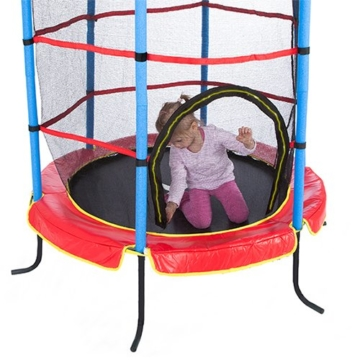 Ultrasport Kinder Indoortramplin Jumper 140 Inklusiv Sicherheitsnetz, Rot/Blau, 33070000065P - 5