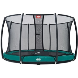 Bergtoys Trampolin Elite+ grün 430 cm inkl. T-Series Netz - InGround - 1