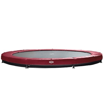 Bergtoys Trampolin Elite+ rot 430 cm inkl. T-Series Netz - InGround - 2