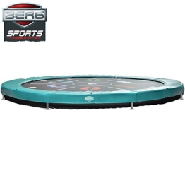 Bergtoys Trampolin Elite+ Tattoo Sport Series , grün, InGround, 430cm - 1