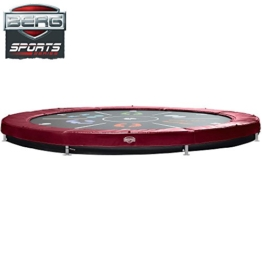 Bergtoys Trampolin Elite+ Tattoo Sport Series , rot, InGround, 430cm - 1