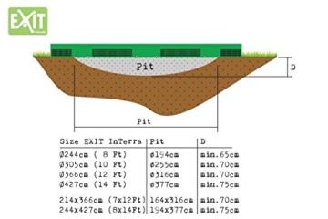 EXIT Trampolin Exit »InTerra«, rechteckig 214 x 366 x 20 cm - 4
