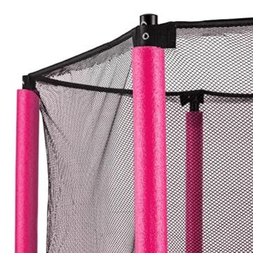 Klarfit Rocketkid Trampolin 140cm Sicherheitsnetz innen, Bungeefederung, pink - 6