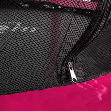 Klarfit Rocketkid Trampolin 140cm Sicherheitsnetz innen, Bungeefederung, pink - 7