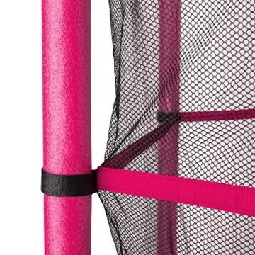 Klarfit Rocketkid Trampolin 140cm Sicherheitsnetz innen, Bungeefederung, pink - 8